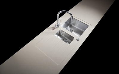 Sink duo stainless